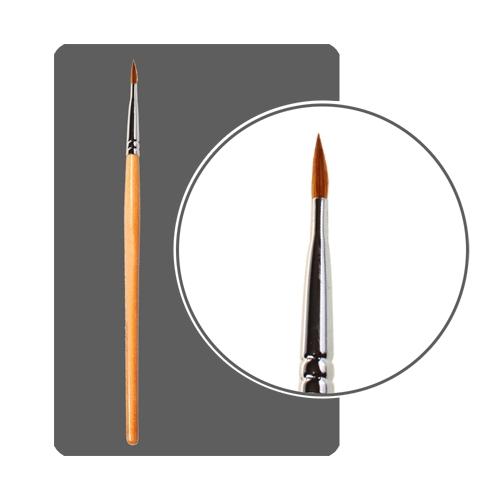 ЭШ 3D кисть для акрила №5 с деревянной ручкой