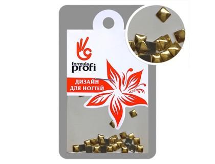 Клёпки металлические Квадратик 3*3 мм, цвет золото