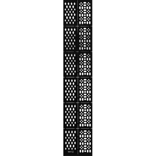 Трафарет виниловый для дизайна ногтей NK-02