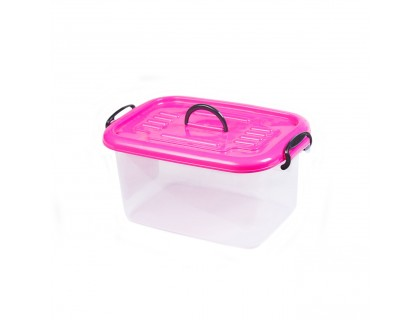 Контейнер пластиковый для хранения 20х16,5х28,5 см с цветной крышкой