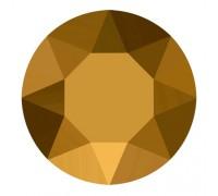 Стразы Swarovski № 6, цвет тёмное золото 50 шт.