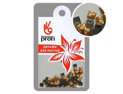 Клёпки металлические с гранями Квадрат 3*3 мм, цвет золото