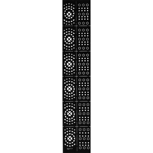 Трафарет виниловый для дизайна ногтей NK-17