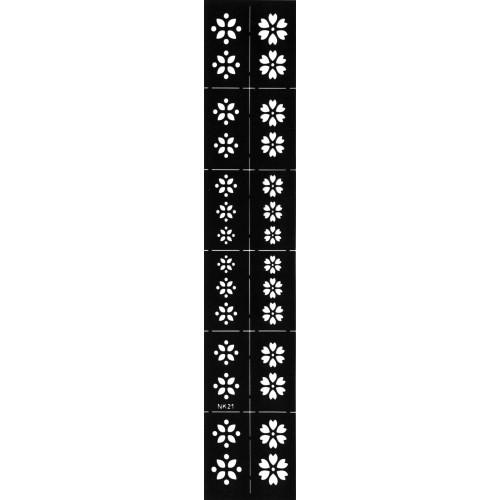 Трафарет виниловый для дизайна ногтей NK-21