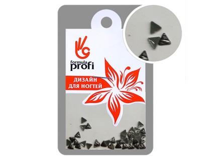 Клёпки металлические с гранями Треугольник 3*3 мм, цвет чёрный
